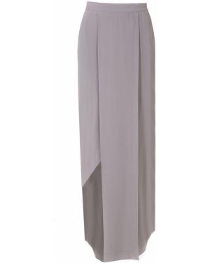 Кожаная юбка макси - серая Ilaria Nistri