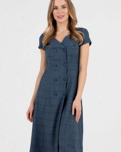 Повседневное синее платье Key