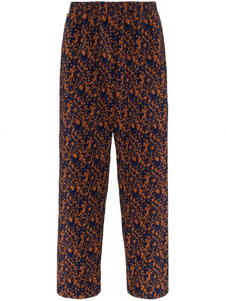Оранжевые прямые брюки с поясом новогодние Lou Dalton