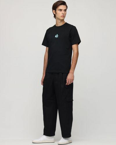 Czarny t-shirt bawełniany z haftem P.a.m. Perks And Mini