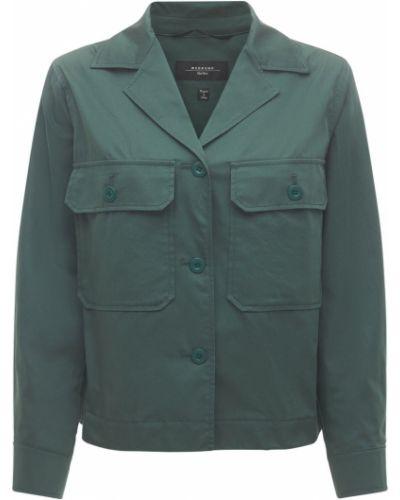 Куртка на пуговицах - зеленая Weekend Max Mara