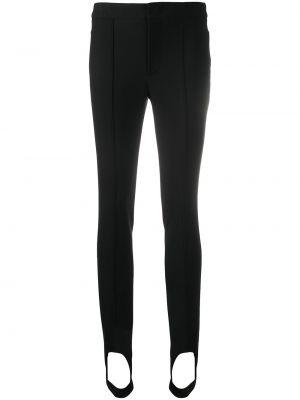 С завышенной талией черные брюки эластичные Moncler Grenoble