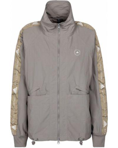 Нейлоновая бежевая куртка с декоративной отделкой Adidas By Stella Mccartney