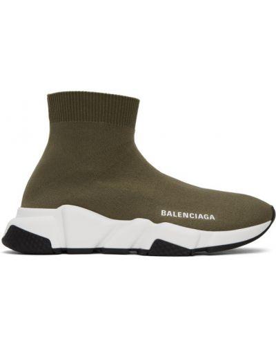 Белые высокие кроссовки на каблуке круглые Balenciaga