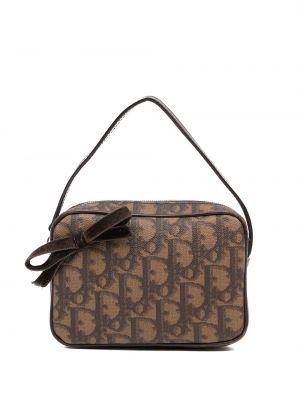Brązowa torebka skórzana Christian Dior