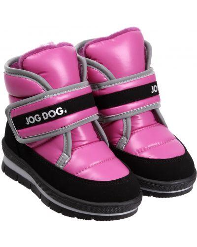 Текстильные розовые ботинки Jog Dog