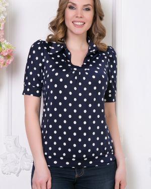 Блузка с кокеткой в горошек Diolche