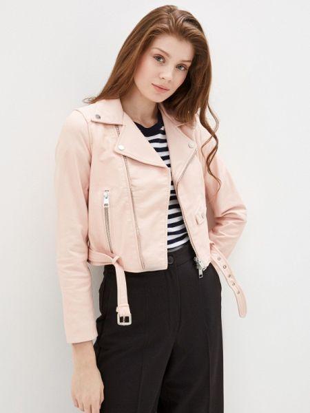 Кожаная куртка весенняя розовая Imperial