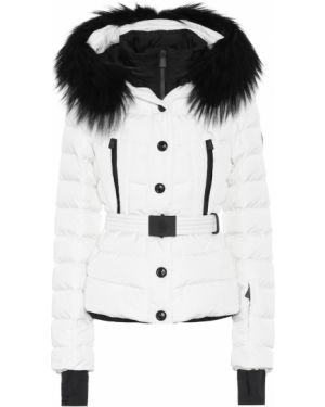Спортивная куртка белая с опушкой Moncler Grenoble