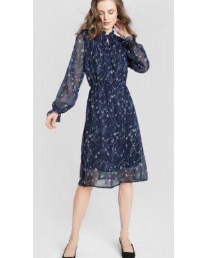 Платье миди через плечо с V-образным вырезом Ostin