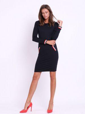Czarna sukienka bawełniana Kabelle