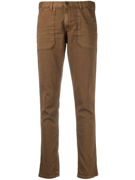 Брючные коричневые укороченные брюки с карманами с заплатками Ba&sh
