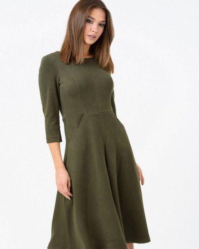 Платье осеннее зеленый Ricamare