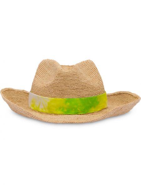 Zielony kapelusz Prada