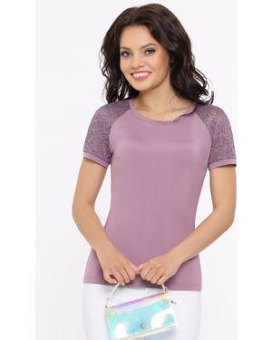 Текстильная с рукавами деловая блузка матовая Dstrend