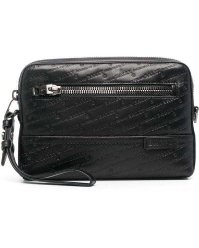 Черная кожаная сумка с карманами Bally