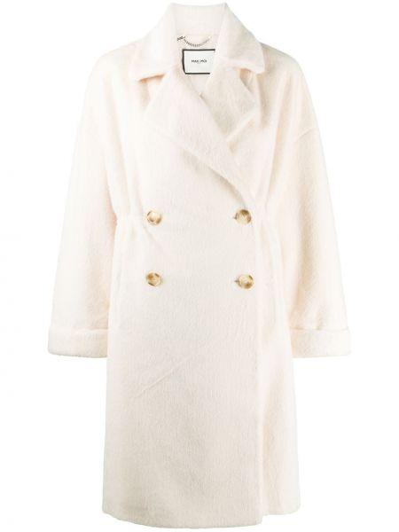 С рукавами длинное пальто с лацканами из искусственного меха с карманами Max & Moi