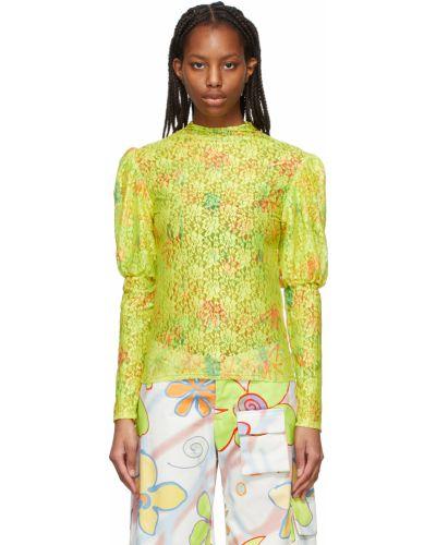 Koszula w kwiaty - żółta Collina Strada