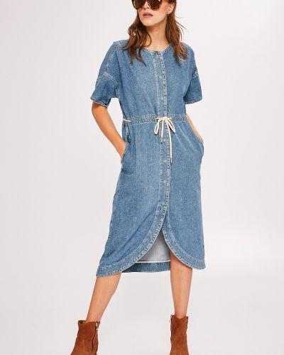 Платье миди джинсовое однотонное Pepe Jeans