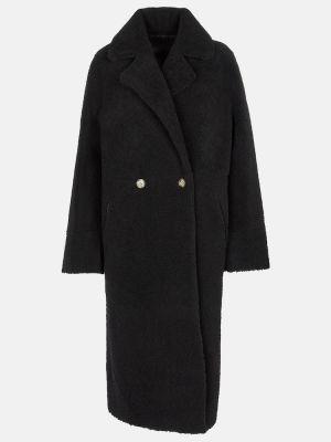 Черное пальто классическое Yves Salomon
