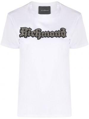 Хлопковая футбольная белая футболка John Richmond