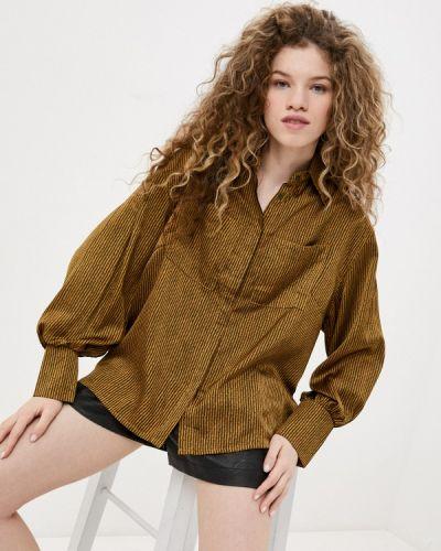 Зеленая блузка с длинными рукавами B.style