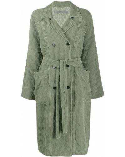Коралловое длинное пальто с поясом Raquel Allegra