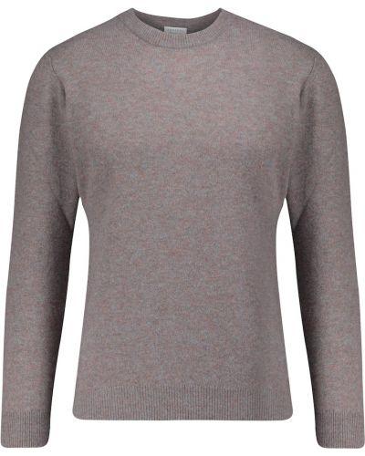 Мягкий синий кашемировый свитер Sunspel