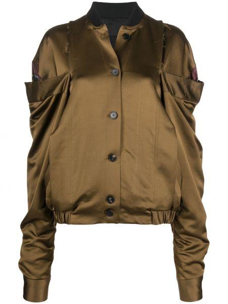 Длинная куртка хаки с воротником на пуговицах Litkovskaya