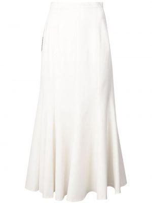 Шерстяная юбка миди - белая Natasha Zinko