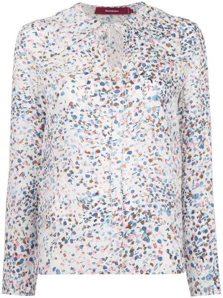 Блузка шелковая белая Sies Marjan