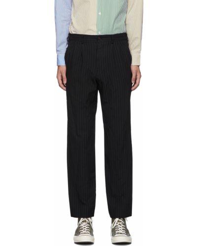 Białe spodnie w paski z paskiem Comme Des Garcons Homme Deux