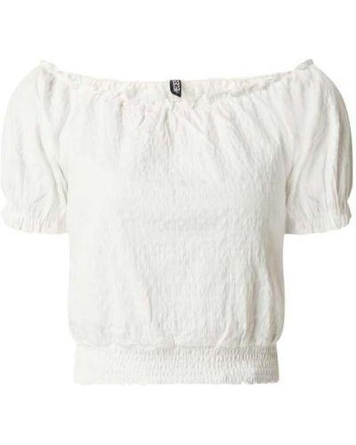 Biała bluzka krótki rękaw bawełniana Pieces