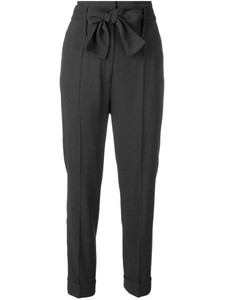 Серые брюки-сигареты с поясом из вискозы Fabiana Filippi