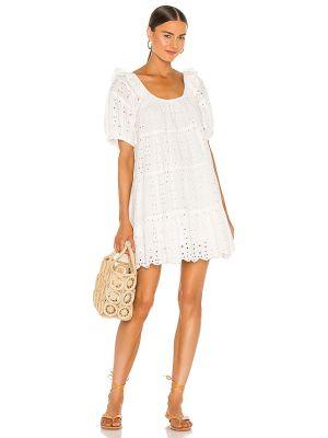 Деловое бежевое платье мини с подкладкой Cleobella