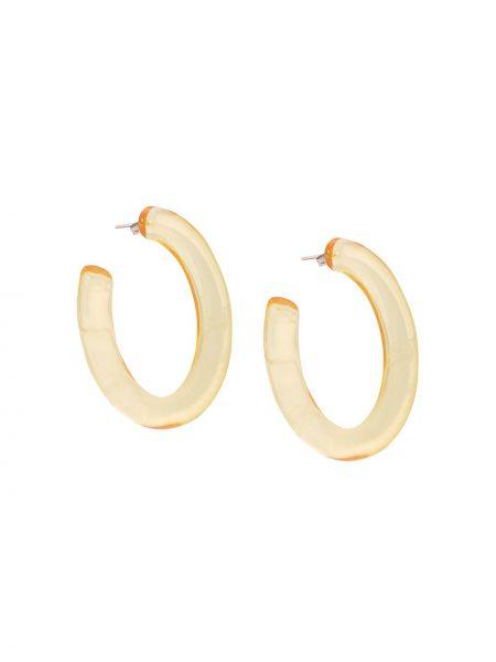 Желтые серьги-кольца с бабочкой Lizzie Fortunato Jewels