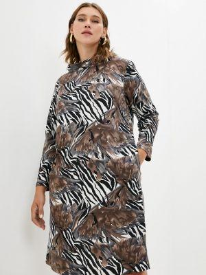 Платье свитер - коричневое Svesta