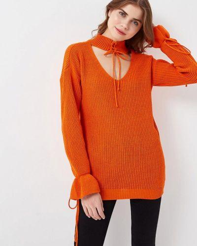 Оранжевый свитер весенний Glamorous