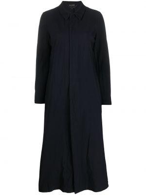 Черный длинное пальто на пуговицах с воротником Comme Des Garçons Comme Des Garçons