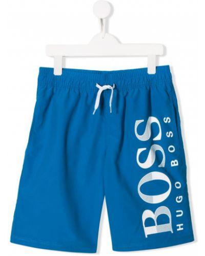 Плавки синие с карманами Boss Kids
