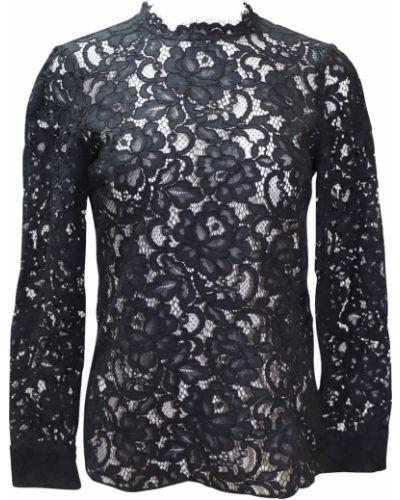 Bluzka koronkowa z długimi rękawami sznurowana Saint Laurent Vintage