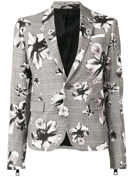Шерстяной серый пиджак с карманами Neil Barrett