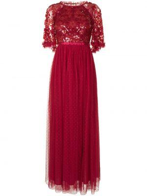 Платье макси с пайетками - красное Needle & Thread