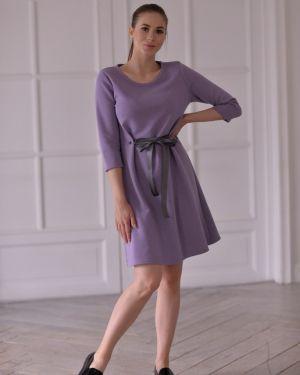 Летнее платье миди из футера Mix-mode