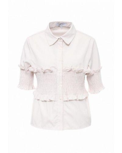 Блузка с коротким рукавом весенний бежевый Lost Ink.