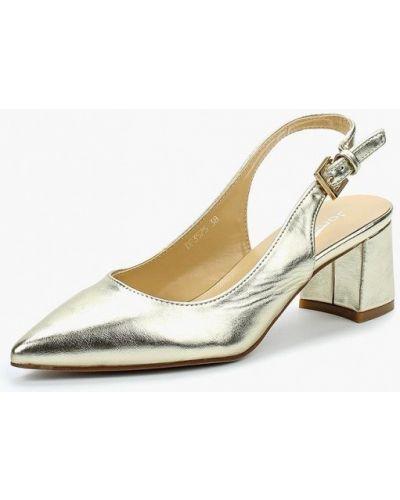 Кожаные туфли с открытой пяткой на каблуке Janessa