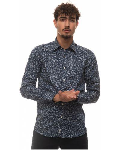 Niebieska koszula casual Canali