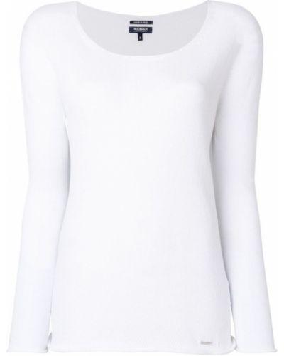 Белая футболка хлопковая Woolrich