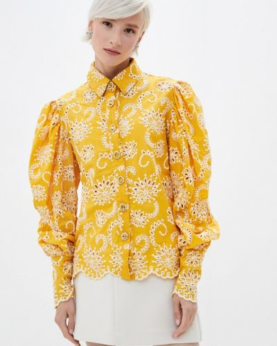 С рукавами желтая блузка с длинным рукавом Sister Jane