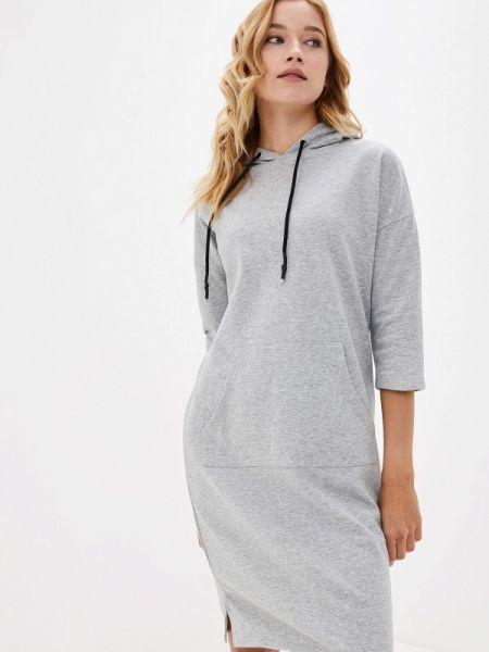 Платье серое платье-толстовка Lelio